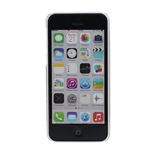 iPhone 5C Coque, Joli Flottant Coeurs Mignonne Chat Minou Motif Liquide Eau Case Rigide Transparente étui pour Apple iPhone 5C Anti Choc