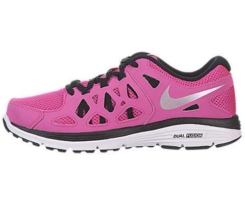 Nike Kids Fusion - Nike Girls' Dual Fusion Run 2 (GS) Running Shoes 4 Kids US (Pink Foil/Mtllc Slvr/Blk/White)