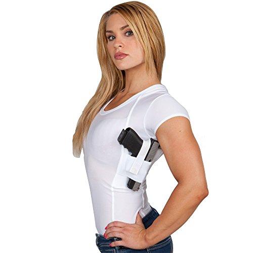 UnderTech Undercover Women's Concealment Scoop Neck Shirt in White, Black or Nude T0760