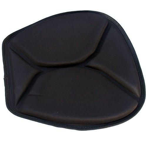 AQURA Black X-Treme Cushion Kayak Paddling Seat Pad Cushion with Anti Slip Back