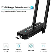 Mini Wi-Fi Extender Dual Band USB Adapter,Weton 300Mbps Wireless Wifi+S Range Extender USB Wifi Signal Booster Extender Amplifier Works for the House With Any WI-FI Router or Wireless Access Point