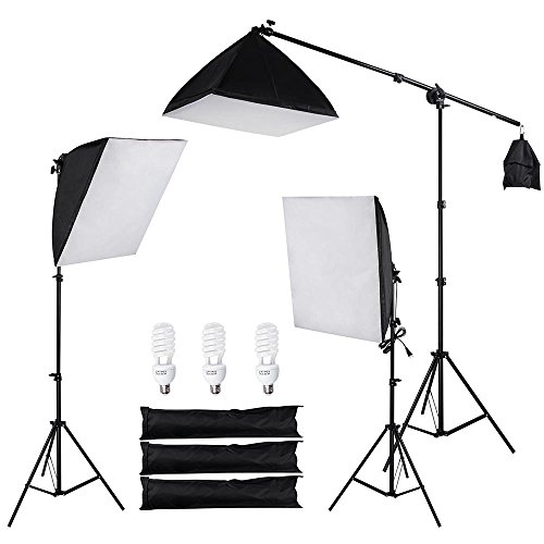 AW 3X 22 Softbox Stand Kit 45W 5500K Day-Light Bulb w/Bag Photo Video Studio Camera Shooting from AW