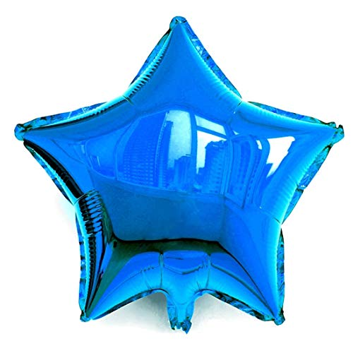 Star Wars Shaped Balloon - SYNUO 10pcs 18inch Star-Shaped Aluminum Balloon, Polyester Balloon for Birthday, Wedding, Solo Party and Other Party Decorations. (Navy Blue)