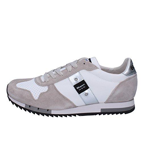BLAUER Uomo Uomo Camoscio Bianco Camoscio EU EU 43 Sneakers Bianco Tessuto 43 USA Sneakers Tessuto USA BLAUER fW6XqfnPr