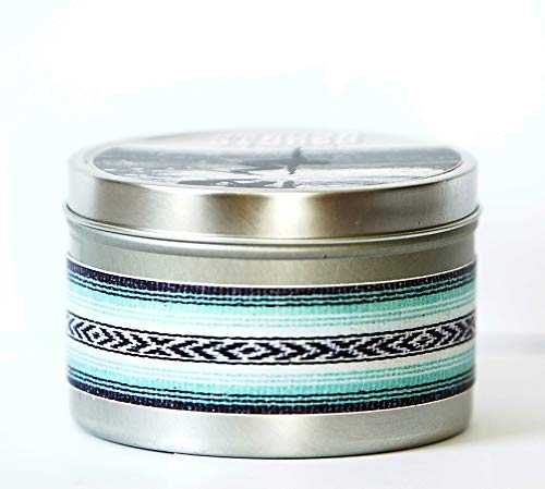 (STOKED CANDLE COCONUT LIME TWIST ~ 8oz reusable tin, hand poured 100% soy wax, eco-friendly wooden wick, primo phthalate free fragrance oil + essential oil, summer, sandy beach, surf)