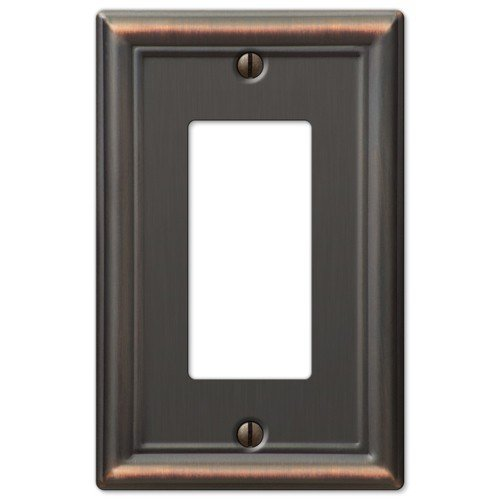 Decorative Wall Switch Outlet Cover Plates (Oil Rubbed Bronze, Rocker GFCI)