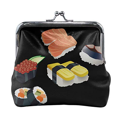 Coin Purses Vintage Pouch Kiss-lock Change Purse Wallets - I LOVE Sushi -