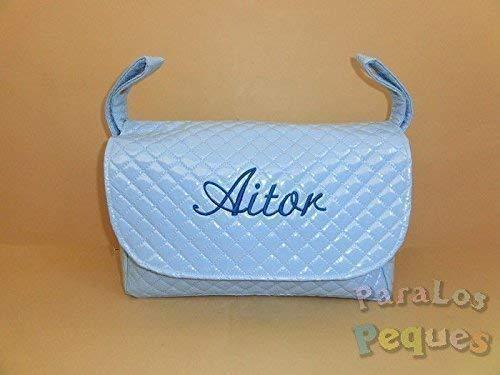Bolso modelo solapa plastificado personalizado con nombre bordado (nombre a elegir). Se adapta