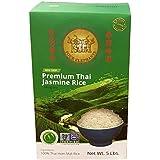 Four Elephants Premium Thai Jasmine Rice Certified Non-GMO 5 lbs