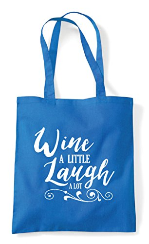 Tote Sapphire Lot Little Shopper A Laugh Statement Bag Wine XqZwzgxx