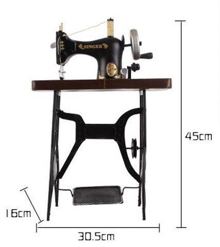 YYY-Adornos de hierro forjado hecho a mano antigua máquina de coser modelo retro accesorios de fotografía decorativa de tienda de ropa , 30.5x16x45: ...