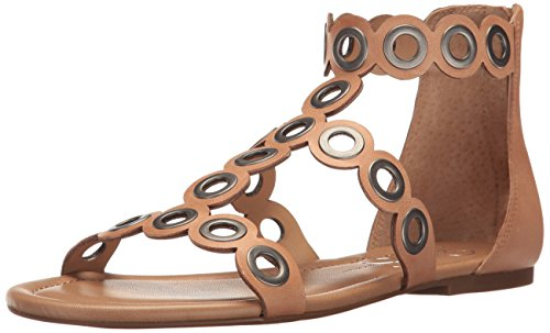 (Jessica Simpson Women's KORVA Flat Sandal, Buff, 8.5 Medium US)