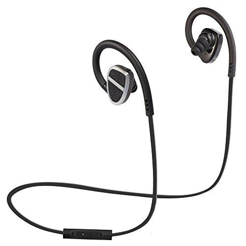 Beskey Bluetooth Earphones Sport Wireless Stereo Headphones With Microphone  Ergonomic Comfort Fit Earbuds Apt X Ipx5 Sweatproof 10 Hours Playing Time  Black