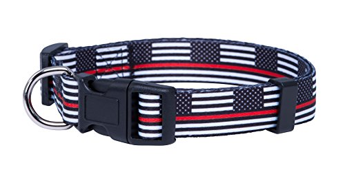 Thin Red Line Flag Dog Collar (Medium)