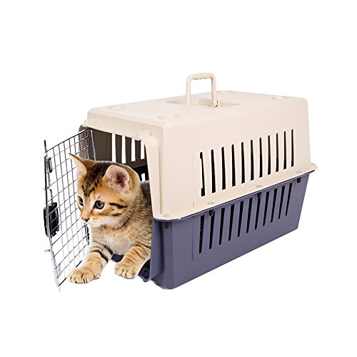 KARMAS PRODUCT Small Plastic Cat & Dog Carrier Cage Portable Pet Box Airline Approved Review