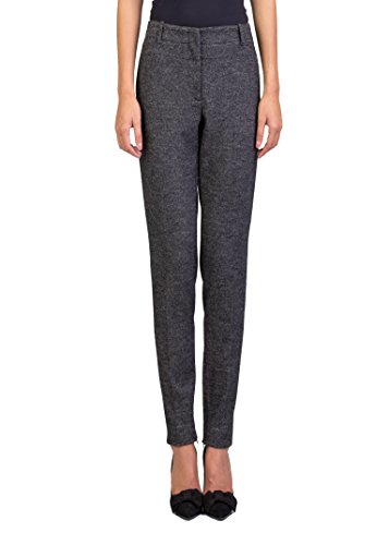 Prada Women's Virgin Wool Cotton Blend Slim Fit Pants Heather - Women Clothing For Prada
