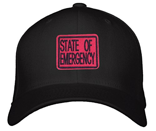 State of Emergency Hat - Adjustable Black/Red Cap