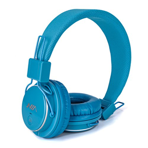 Stereo Bass Over-the-Ear Headphones Headset (Sky Blue) - 2