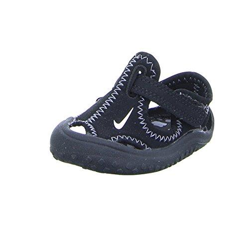 Nike Boys' Sunray Protect (TD) Toddler Sandal 9 c Black/White
