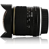 Jaray Aspherical 8mm f/3.5 HD Fisheye Lens 180° Angle for Nikon DSLR Manual Focus Prime Lens