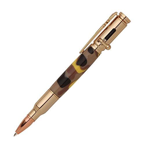 (Penn State Industries PKCP8000 Bolt Action 30 Caliber Bullet Cartridge Pen Kit (5pack in 24kt Gold))