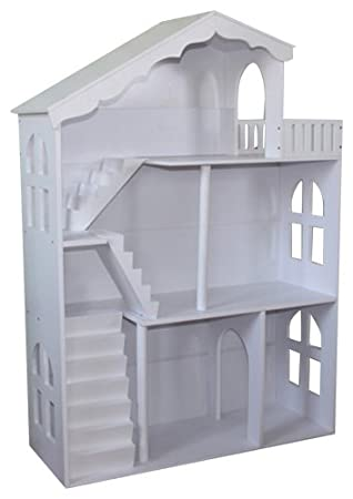 Liberty House Toys Dollhouse Bookcase With Balcony White