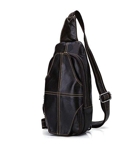 In 2 A Pelle Vintage Bag università Sucastle Tracolla D'affari Tipo Borsa 1 viaggio Spalla 15x6x30cm Messenger Uomo FYxWZ