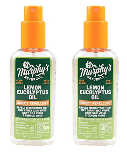 Murphy's Naturals Lemon Eucalyptus Oil Insect Repellent | DEET Free Plant-Based Mosquito Repellent | 4-Ounce Pump Spray | Made in USA| ()