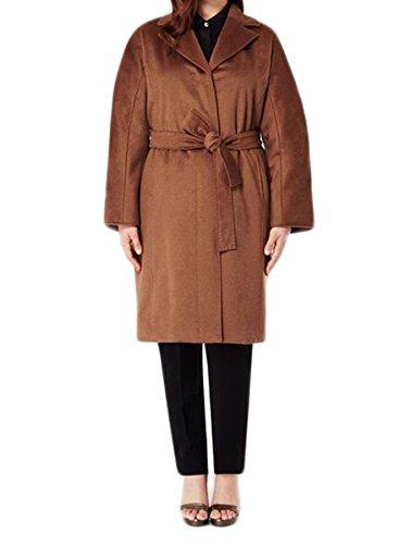 - Marina Rinaldi Women's Targa Cashmere Tie Waist Coat 16W / 25 Caramel