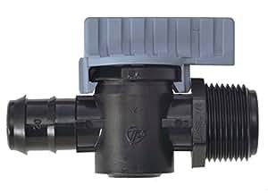 """5x 'Válvula Conector de plástico/macho de rosca 20mm x 1/2""""macho–al aire libre jardín riego"""