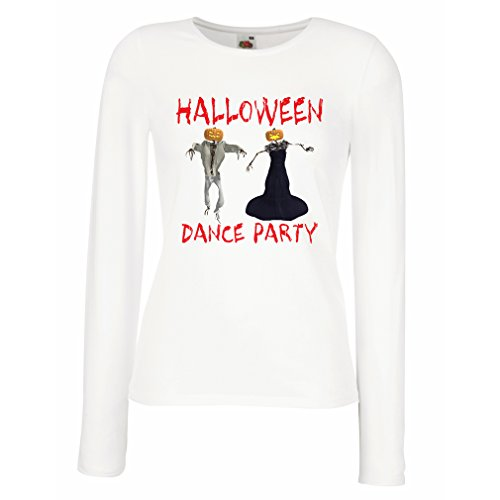 Cool Homemade Invitations Halloween (T shirt women Cool Outfits Halloween dance party events costume ideas (Large White Multi)