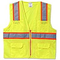 Occunomix LUX-ATRANS-YM Classic Solid Two-Tone Surveyor Vests, Medium, Yellow by Occunomix