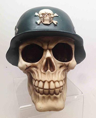 Figurine Army Batallion Helmet Soldier Skull Skeleton Halloween War Horror Decor ()