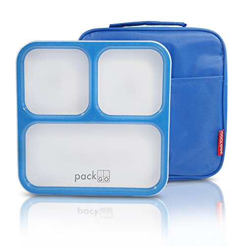 Packtogo Slimline Bento Lunch Box with Insulated Lunch Bag