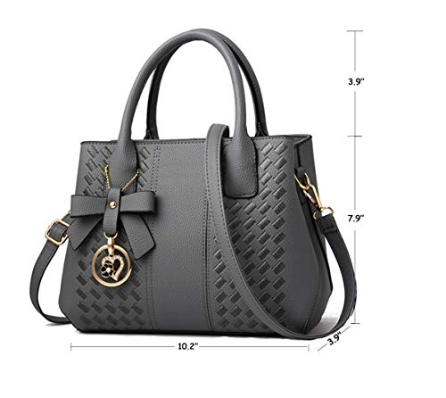Purses and Handbags for Women Fashion Ladies PU Leather Top Handle Satchel Shoulder Tote Bags 3