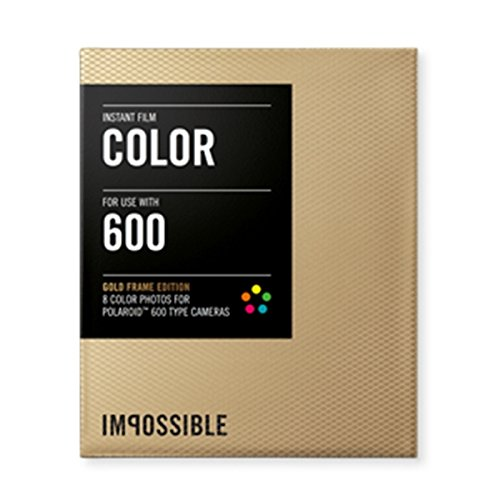 Impossible PRD2934 Color Film for Polaroid 600-Type Camera Frame (Gold) (Fuji 100c Polaroid Film)