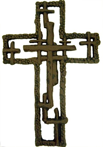 Deleon Cast Iron Multiple Cross Hanging Wall Cross, 11 Inch