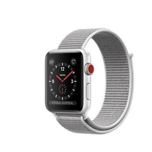 half off d62bf 91247 Apple watch series 3 Aluminum case Sport 42mm GPS + Cellular GSM unlocked  (Silver Aluminum case with Seashell Sport Loop)
