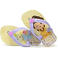 Havaianas Sandálias New Baby Disney Princess, Amarelo Pólen/Lavanda, 19 Bra