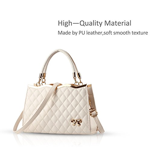 amp;Doris Handbag Diamond Lattice Ivory Soft Ivory Bag Shoulder Leather Women PU Ladies Nicole New Crossbody Surface dwOn6d