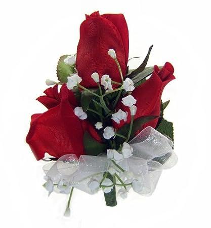 Amazon thebridesbouquet red silk rose corsage wedding thebridesbouquet red silk rose corsage wedding corsage prom mightylinksfo