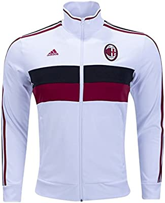 Chaqueta italiana Serie A AC Milan, 3 rayas, para hombre: Amazon ...