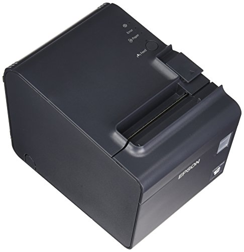 Epson C31C412A7991 TM-L90 Plus Thermal Label Printer for Linerless Media, 40mm Spacer, Serial Interface, With Power Supply, Dark Gray by Epson