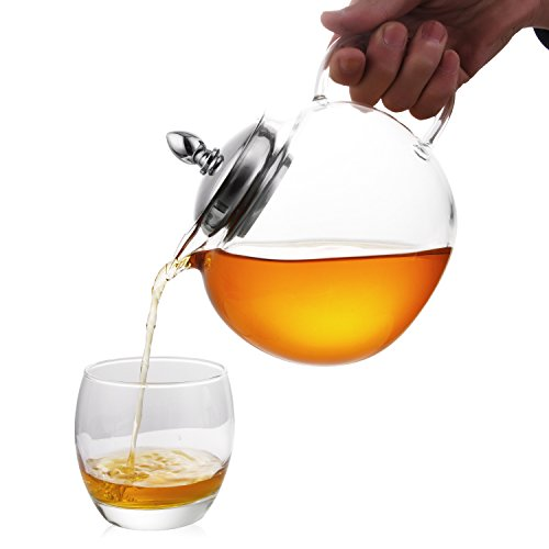Review Hiware Glass Teapot with