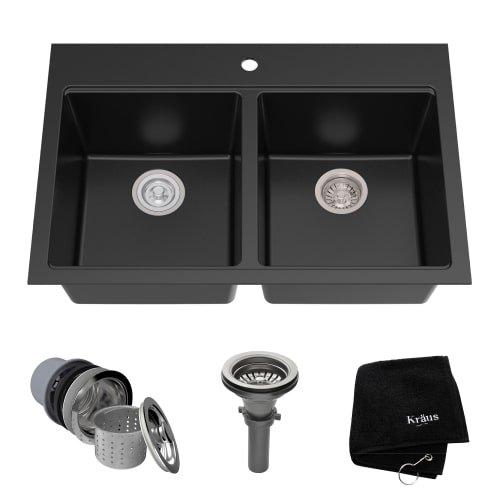 Black Kitchen Sink - 1