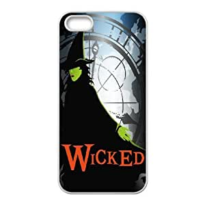 Personalized Durable Cases iPhone 5, 5S White Phone Case Pvplx Musical Wicked Protection Cover