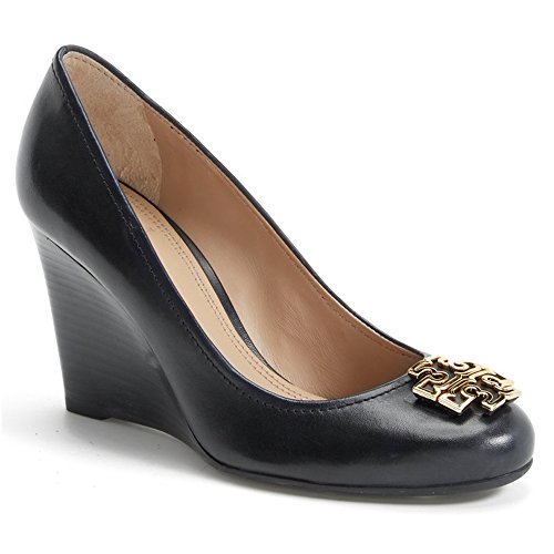 c47a7480042f76 Tory Burch Melinda Wedge 85 mm Black Size  9.5  Amazon.co.uk  Shoes   Bags