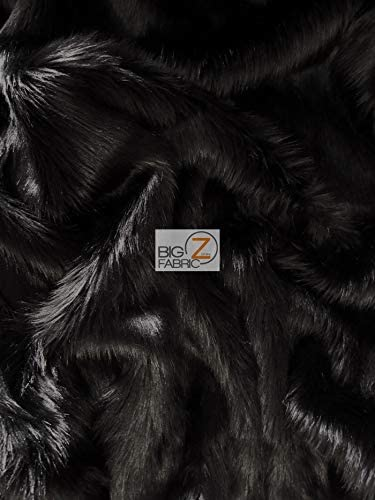 """Faux Fur fake Black shaggy fabric 60/"""" Wide sold by the yard upholstery"""