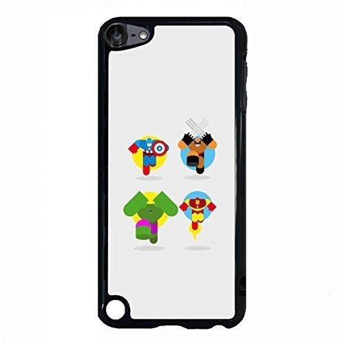 Custom Diseny Cartoon Design Marvel Avengers Superhero The Incredible Hulk Phone Case Cover For Ipod Touch 5th Black Hard Case