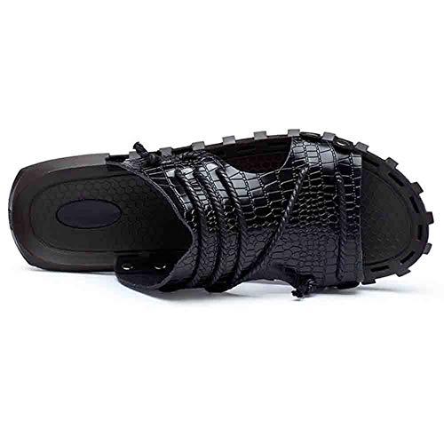 bianco sandali antiscivolo pelle traspirante sport all' sportivi 42 da Beach aperto in Nero estate Unbekannt scarpe uomo U6xBwqTCC